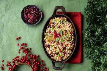 Orange cranberry rice pilaf