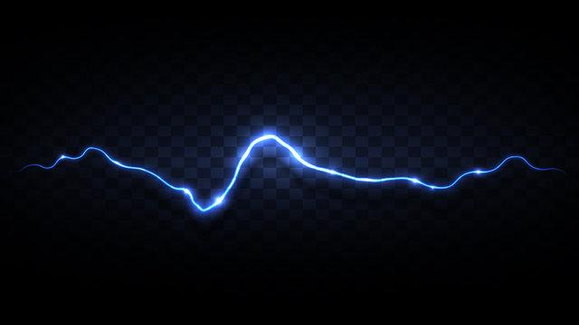 Black background with blue lightning