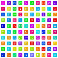 100 flat icons color