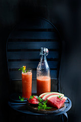 Melon carrot tomato juice