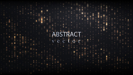 Abstract sparkling gold dust vector