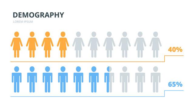 Infographics elements women men