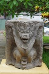 Sculpture cham d'un lion