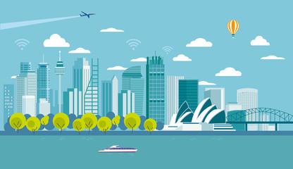 Sydney (Australia) city skyline