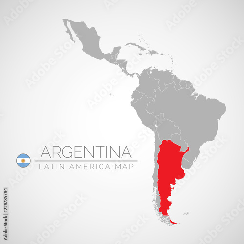 Map of Latin America with the identication of Argentina. Map of ...