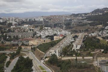 Aerial view of the city of Constantine, Algeria