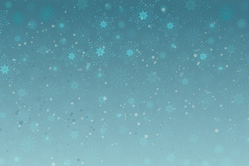 Christmas vector background with snowflakes, sequins. Sparkling blue background banner template, poster, invitation, congratulations.