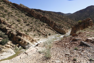 Ghoufi gorges canyon in Batna, Algeria