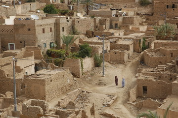 Ksour sand palace in Djanet, Algeria