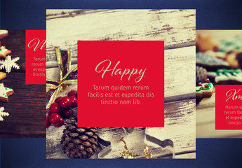 Holiday-Themed Social Media Post Layouts