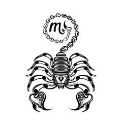 Tattoo signs Scorpio