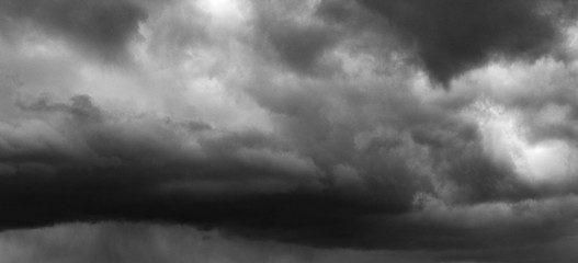 landscape before the storm, menacing rain clouds