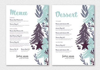 Holiday Menu Layout