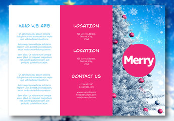 Festive Trifold Flyer Layout