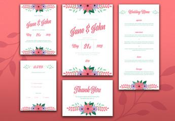 Wedding Stationery Layout