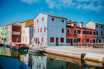 Burano Island, Veneto, Italy. Summer 2018.