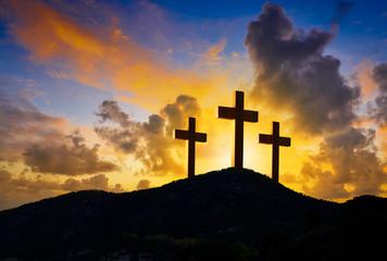 Crucifixion cross symbol of Golgotha
