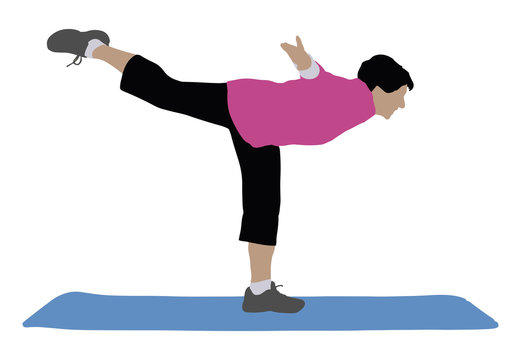Woman Exercising On Exercise Mat