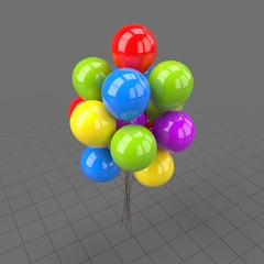 Colorful round shaped balloons 2