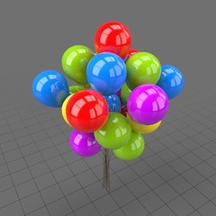Colorful round shaped balloons 1