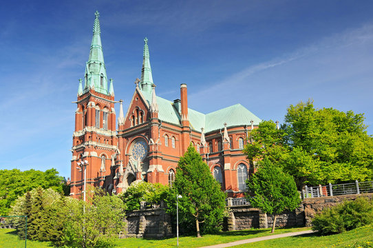St. John's Church in Helsinki, Finland is a Lutheran church designed by the Swedish architect Adolf Melander in the Gothic Revival style.