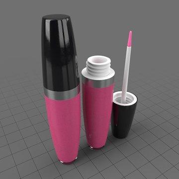 Closed and open pink liquid lipsticks