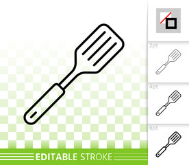 Spatula simple black line vector icon
