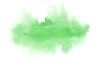 Green horizontal watercolor gradient hand drawn background.