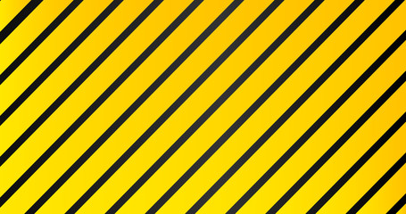 Industrial striped warning yellow black pattern vector background.