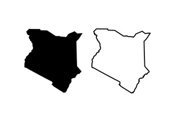 Map Of Kenya. Vector illustration