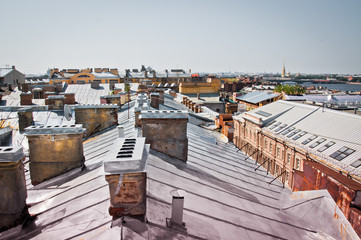 roof landscape in Russia