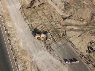 roller road pavement machine flatten the earth f