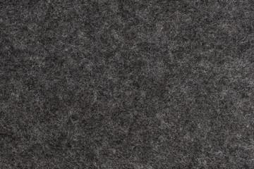 Dark Grey felt texture. Closeup view.