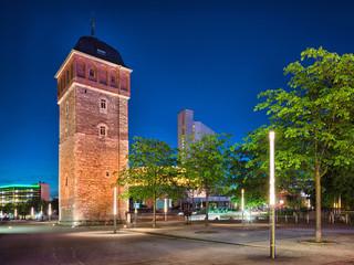 Printed kitchen splashbacks Historical buildings Chemnitz Sachsen roter Turm am Marktplatz Zentrum