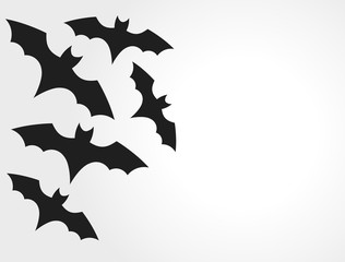 Bats colony on white background