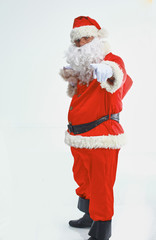 Christmas theme: happy Santa Claus. Over white background