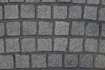 Gray cobblestone background texture