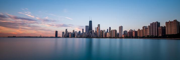 Chicago cityscape at sunrise Fotobehang