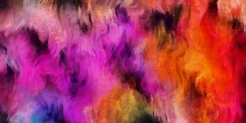 Creative abstract painting background in oil. Textured brush strokes of paint. Colorful design pattern. Artistic drawing grunge texture. Watercolor mixed fine art template for decoration. Vintage.