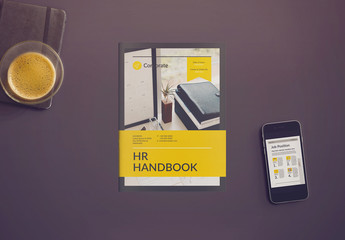 HR Handbook Layout with Yellow Accents