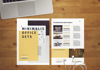 Flyer Layout With Pale Yellow Accents
