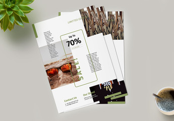 Flyer Layout With Green Accent