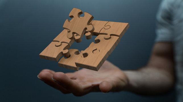 puzzle wood