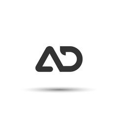 Initial AD Letter Logo Design