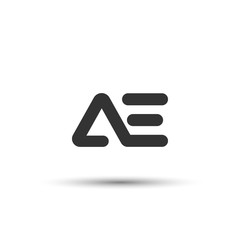 Obraz Initial AE Letter Logo Design - fototapety do salonu