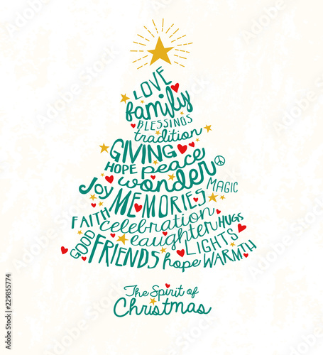 """""""holiday greeting card with inspiring handwritten words in"""