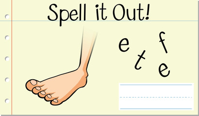 Spell English word feet