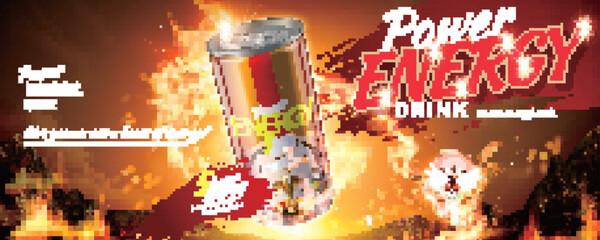 Energy drink banner ads