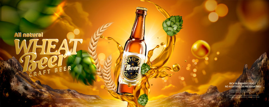 Wheat beer banner ads