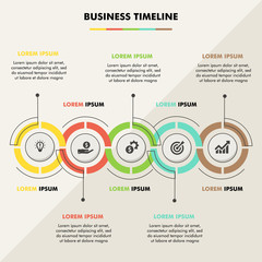 Business infographic eps 10 vector